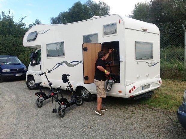 La movilidad en autocaravana, el scooter eléctrico