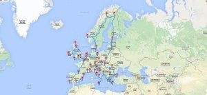 Itinerario por Europa