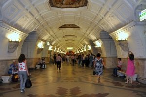 El lujo del metro de Moscú