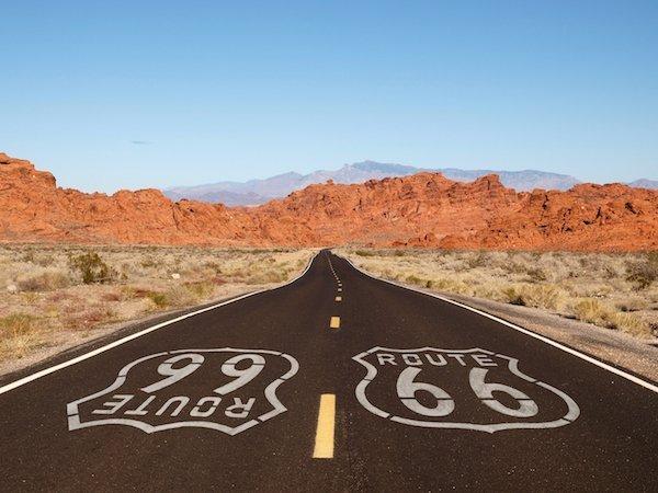 Ruta 66 carretera desierto