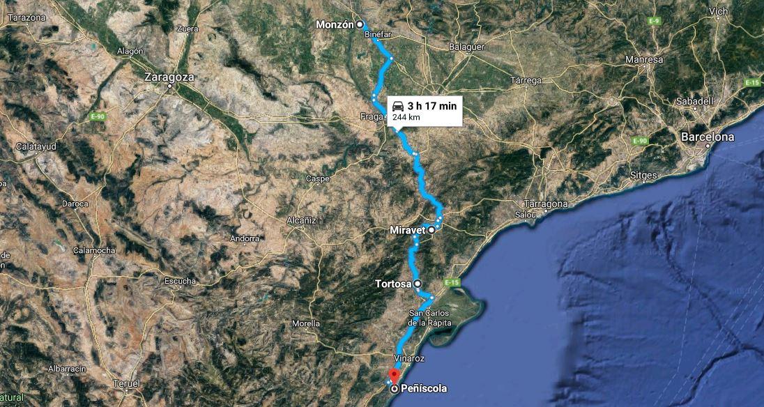 Castillos_Templarios_Aragón_autocaravana_en_alquiler